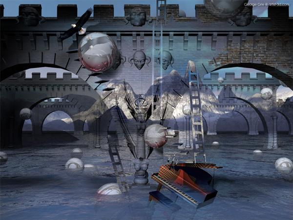 3D Artist surrealism fantasy pictures: Limited Edition ... Modern Surrealism Wallpaper
