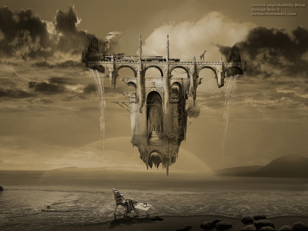 Surreal fantasy art 3D wallpapers: Infinite Improbability Drive 3D ...