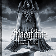 CD cover-art 2017 Maestitia, Melodic Black/Death, France Rock music band