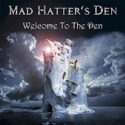 CD cover-art Mad Hatter's Den Stone Cold Flame; Finland Rock music band
