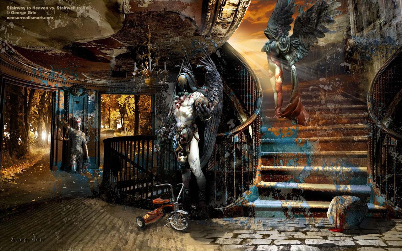 heaven vs hell art - photo #8