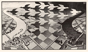 Day and Night 1938 - M.C. Escher
