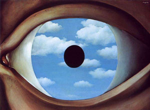 The False Mirror 1928 - Rene Magritte