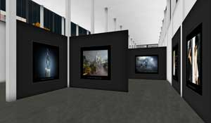 Virtual walk-through 3D gallery 1995